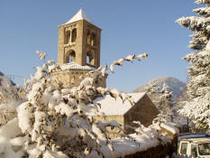 Camprodon: The Monastery of Saint Peter in winter