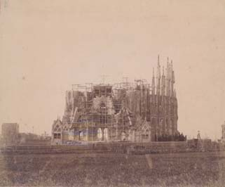 Gaudí  la Sagrada Familia en el año 1898 88f10cb65b0