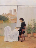 J. Llimona  In the terrace 1891