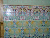 Dom�nech i Montaner:  Reus   Pere Mata Institute  Ceramic decoration on a wall in the dining room