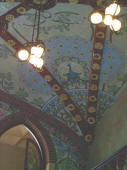Institut Pere Mata in Reus by the architect L. Dom�nech i Montaner. The music room roof. Tiles decorated by L. Br�
