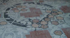 Dom�nech i Montaner:  Reus   Pere Mata Institute   Floor mosaic in the music room