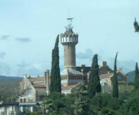 Reus: Pere Mata Institute of Llu�s Dom�nech i Montaner  A view of some of the wings and the tower