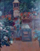 "Riquer: Painting  ""Garden"" oil painting"