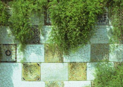 G Park Guell Mosaics cuadrats sota merlets