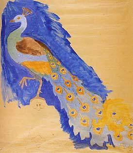 Projecte a escala natural llapis i aquarela cigne L. Bru