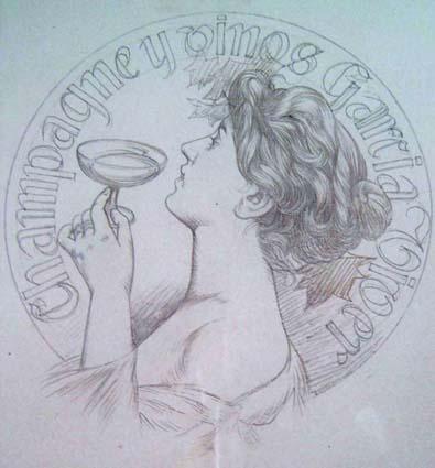 Riquer Ilustracions Champagne y Vinos G V