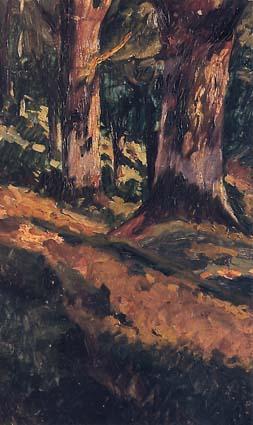 Riquer Pintura Cami entre arbres rr des