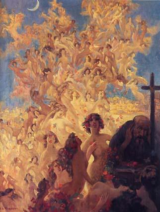 Riquer Pintura Les temptacions de Sant Antoni rr des