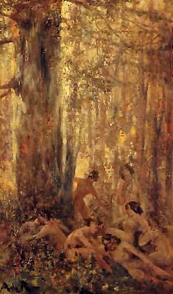Riquer Pintura Nimfes al bosc rr des